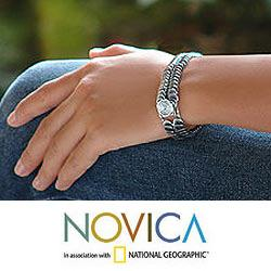 Sterling Silver 'Snail Pass' Bracelet (Indonesia)