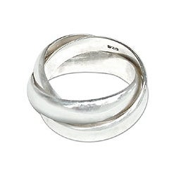 Sterling Silver Men's 'Family of Three' Ring (Indonesia)