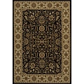 Power-loomed Kerman Black Rug (5'3 x 7'7)