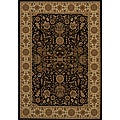 Power-loomed Kerman Black Rug (9'10 x 13'6)