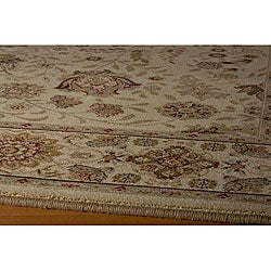Power-loomed Kerman Ivory Rug (9'10 x 13'6)