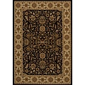 Power-loomed Kerman Black Rug (7'10 x 10'10)