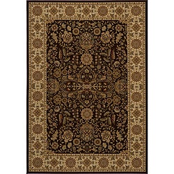 Power-loomed Kerman Brown Rug (5'3 x 7'7)