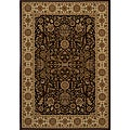 Power-loomed Kerman Brown Rug (3'11 x 5'7)