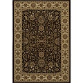 Power-loomed Kerman Brown Rug (9'10 x 13'6)