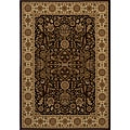 Power-loomed Kerman Brown Rug (7'10 x 10'10)