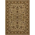 Power-loomed Kerman Ivory Rug (3'3 x 5')