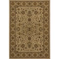 Power-loomed Kerman Ivory Rug (3'11 x 5'7)