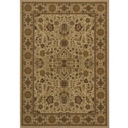 Power-loomed Kerman Ivory Rug (7'10 x 10'10)