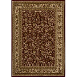 Power-loomed Kashan Red Rug (9'10 x 13'6)