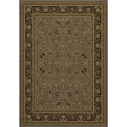 Power-loomed Kashan Slate Rug (3'3 x 5'5)