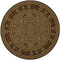 Power-loomed Kashan Slate Round Rug (7'10 x 7'10)