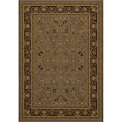 Power-loomed Kashan Slate Rug (5' 3 x 7' 7)