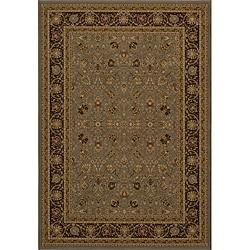 Power-loomed Kashan Slate Rug (5' 3 x 7' 7)