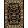 Power-loomed Kerman Black Rug (3' 3 x5' 0)