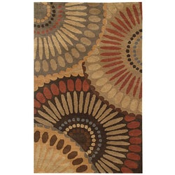Hand-tufted Bom In Brown Wool Rug (5' x 8')