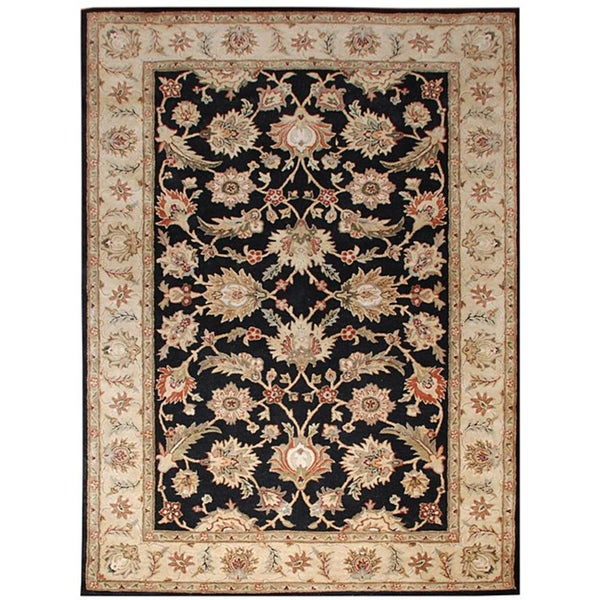 Hand-tufted Mahene Black Wool Rug (8' x 10')
