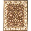 Hand-tufted Mahia Brown Wool Rug (5' x 8')