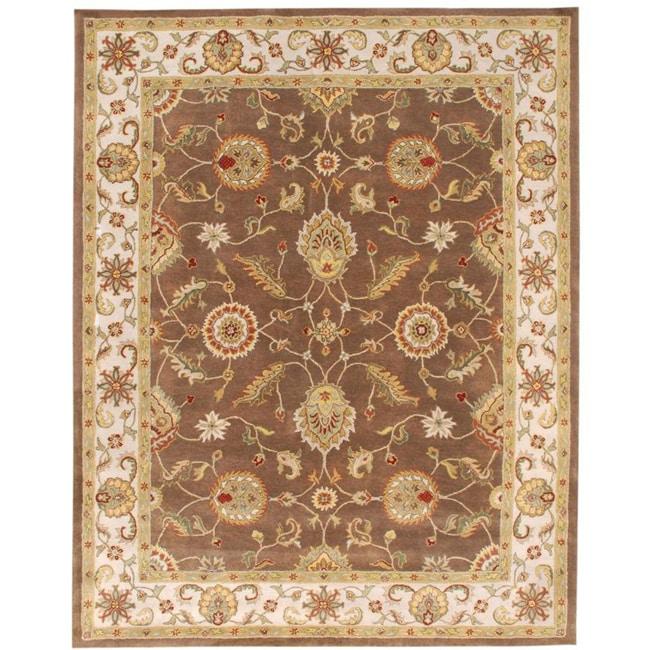 Hand-tufted Mahia Brown Wool Rug (9' X 12')