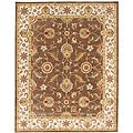 Hand-tufted Mahia Brown Wool Rug (9' X 12')
