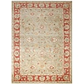 Hand-tufted Santhea Green Wool Rug (8' x 10')