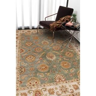 Hand Tufted Calinesto Green Wool Rug 8 X 10 13704125