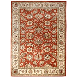 Hand-tufted Mahene Red Wool Rug (8' x 10')