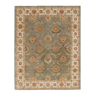 Hand-tufted Calinesto Green Wool Rug (8' x 10')