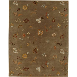 Hand-tufted Blsace Brown Wool Rug (5' x 8')