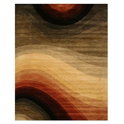 Hand-tufted Desertland Multicolor Wool Rug (9'6 x 13'6)
