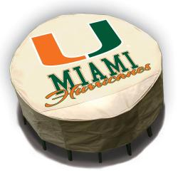 NCAA Miami Hurricanes Round Patio Set Table Cover
