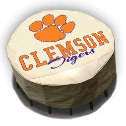 Clemson Tigers Round Patio Set Table Cover