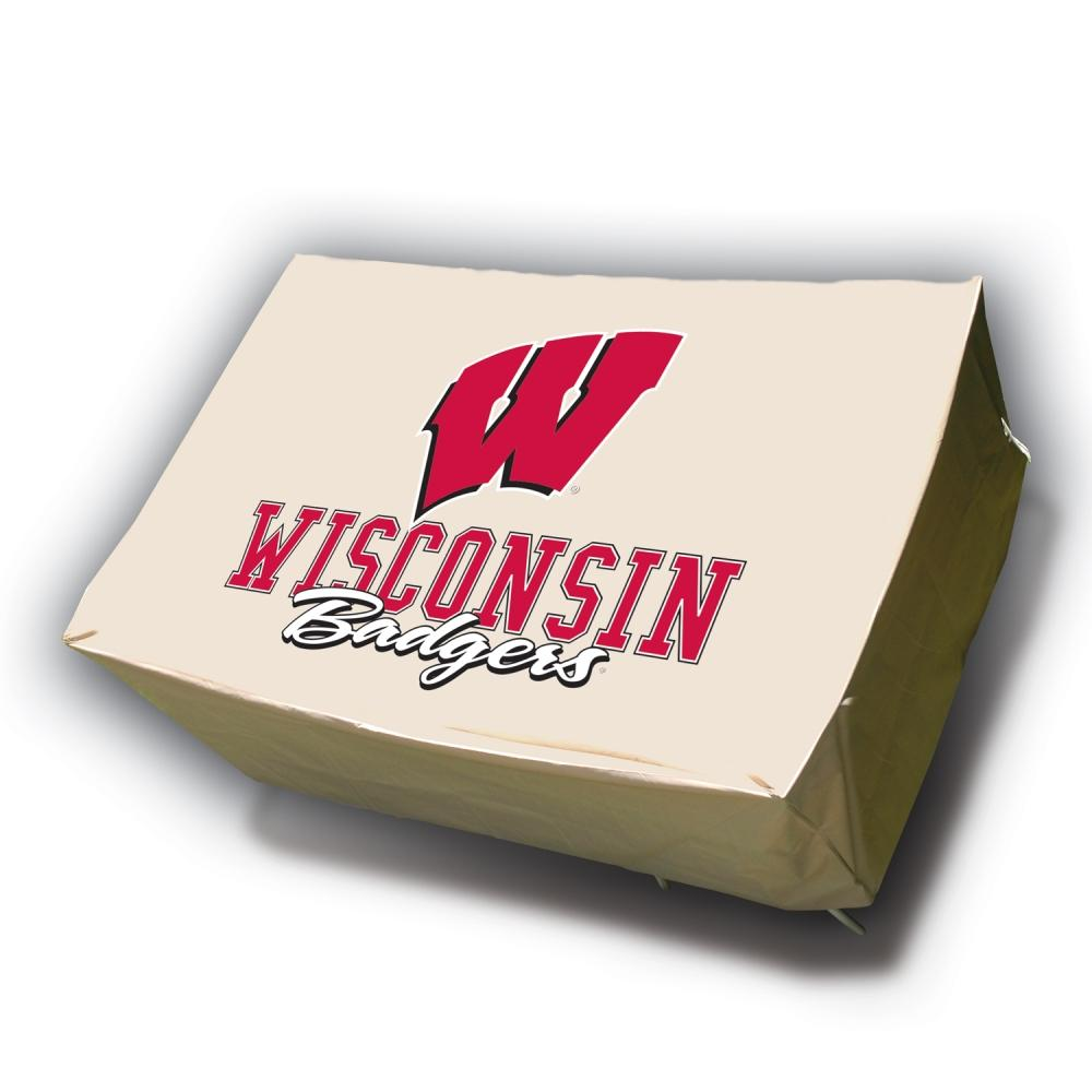 Wisconsin Badgers Rectangle Patio Set Table Cover