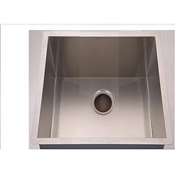 Square Handmade Undermount Stainless-Steel Single-Bowl Sink