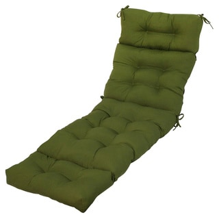 Outdoor Savannah Green Chaise Lounge Cushion