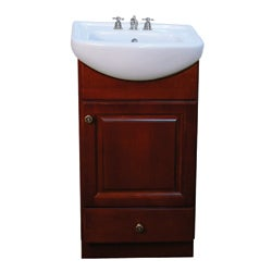 Petite 18-inch Wood Dark Cherry Bathroom Vanity