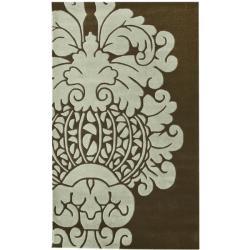 nuLOOM Handmade Modern Damask Wool Rug (7'6 x 9'6)