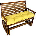 Suncrest Yellow Outdoor Bench Cushion