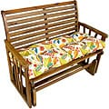Fireworks Floral Outdoor Bench Cushion