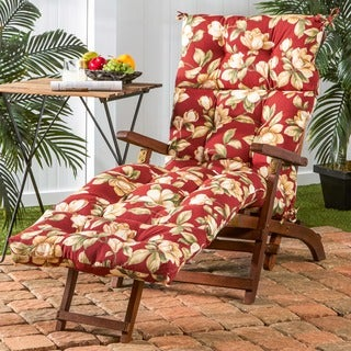 72-inch Outdoor Roma Floral Chaise Lounger Cushion