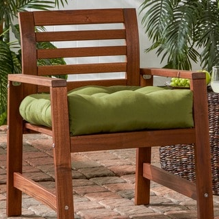 20-inch Outdoor Summerside Green Chair Cushion