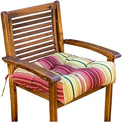 Outdoor Persian Stripe 20-inch Chair Cushion