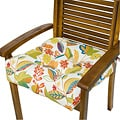 Outdoor Fireworks Floral 20-inch Chair Cushion