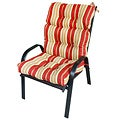 Patio High-back Palazzo Stripe Chair Cushion