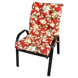 44x22-inch 3-section Outdoor Roma Floral High Back Chair Cushion