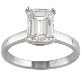 14k White Gold 2ct TDW Certified Clarity-enhanced Diamond Solitaire Engagement Ring (I, SI1)