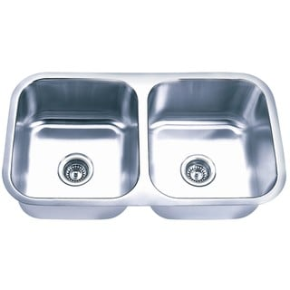 Undermount Stainless Steel Equal Double Bowl