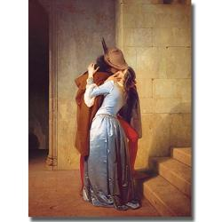 Francesco Hayez 'Il Bacio' Canvas Art