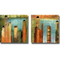KC Woolf 'Project 6, #1 and #2' 2-piece Canvas Art Set