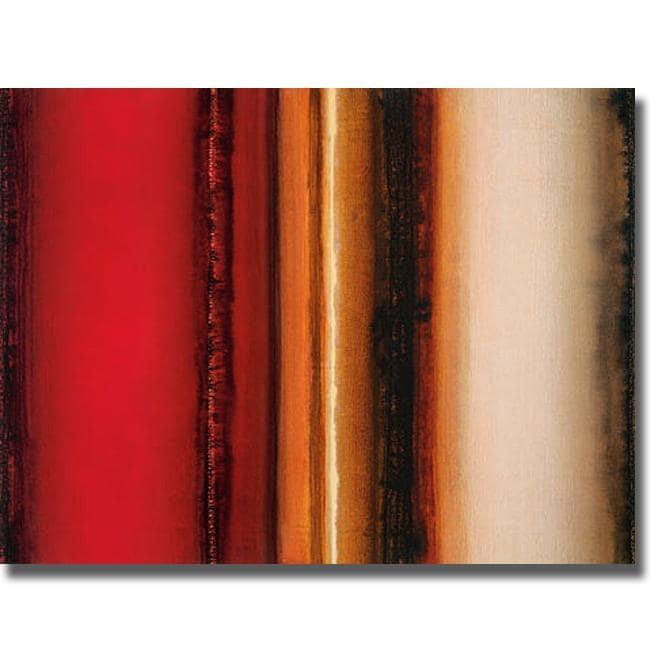 Joel Holsinger 'Red River Sunset' Canvas Art